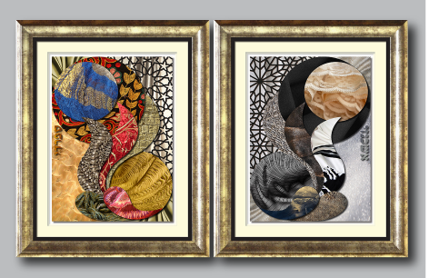 Ashra Designs 3D Framed Art - Two Sides of the Coin